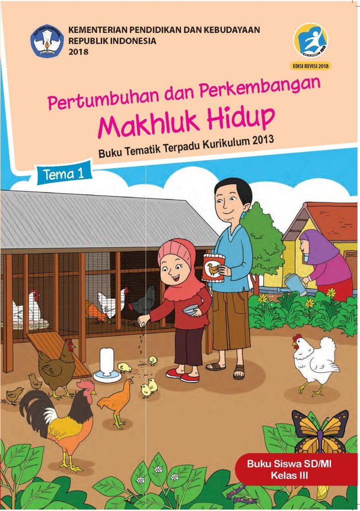 Buku Tema 1 – Pertumbuhan dan Perkembangan Makhluk Hidup Kelas 3