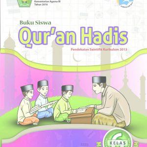 Buku Qur'an Hadis Kelas 6 MI