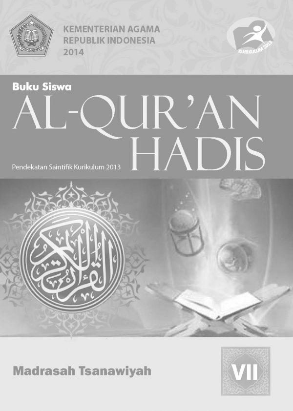 Buku Al-Qur'an Hadis Kelas 7 MTs