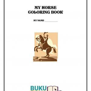 buku Mewarnai Kuda
