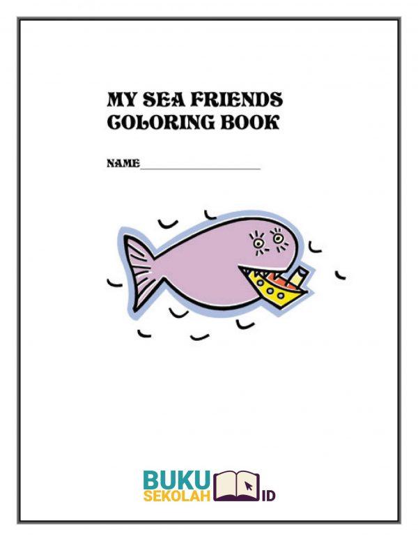 buku Mewarnai Teman Laut